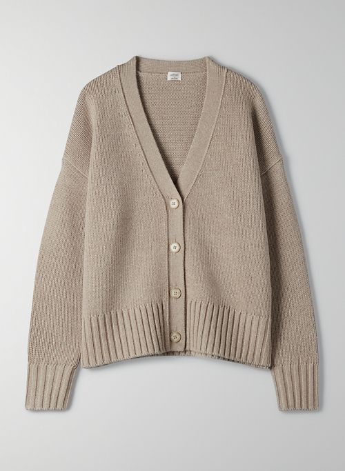 SPA CARDIGAN - Oversized wool cardigan