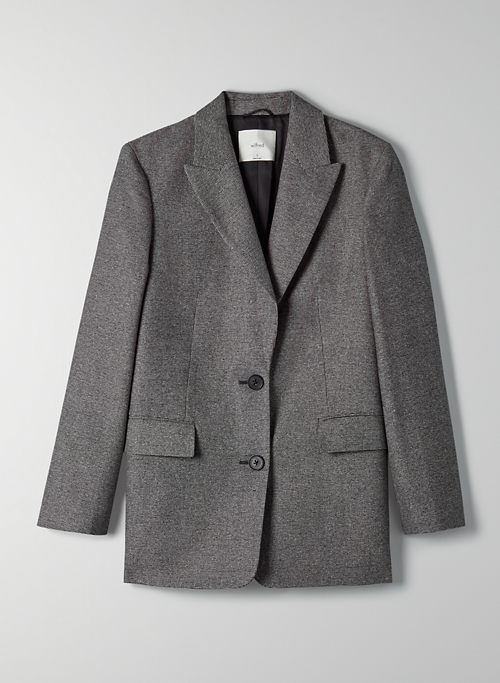 ORSAY BLAZER - Wool flannel single-breasted blazer