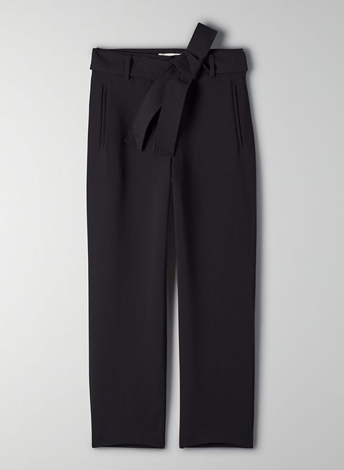 NEW TIE-FRONT PANT - High-waisted, belted pant