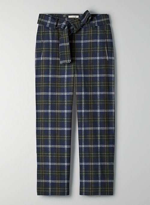 NEW TIE-FRONT PANT - High-waisted wool pants