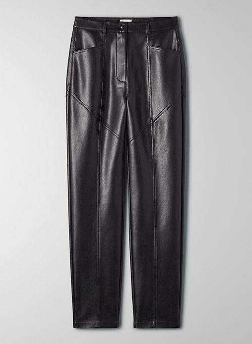 REBEL PANT - Faux leather, high-rise pant
