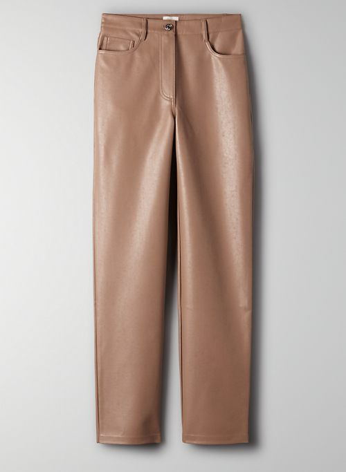 MELINA PANT  - High-rise vegan leather pants