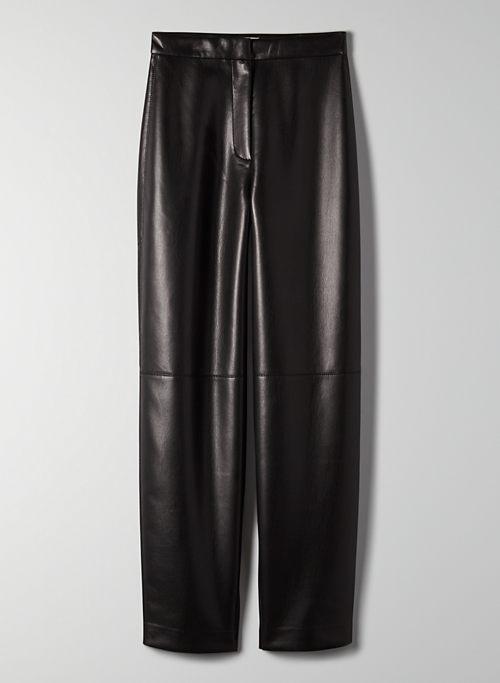 BICA PANT - Tapered vegan leather pants