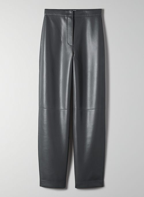 BICA PANT - Tapered vegan leather pants