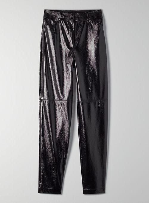 FUNK PANT - High-rise, glossy vinyl pants