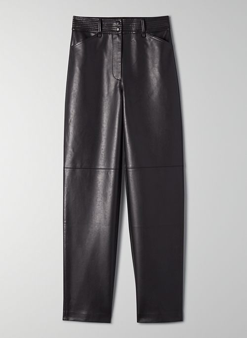 FUNK PANT - High-waisted, vegan leather pants