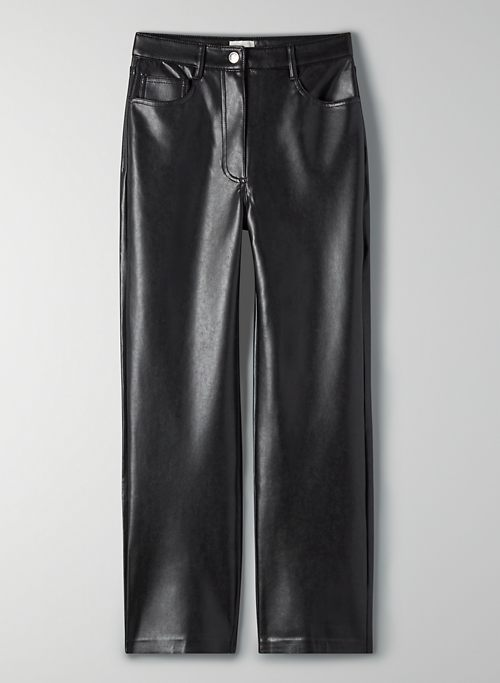MELINA CROPPED PANT - Vegan Leather pants