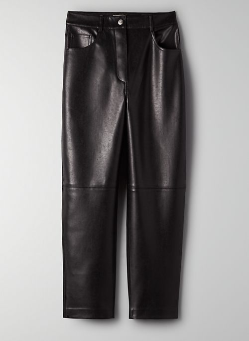 ORACLE PANT - Vegan leather balloon-leg pants