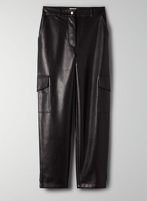 MODERN CARGO PANT - Vegan leather cargo pants
