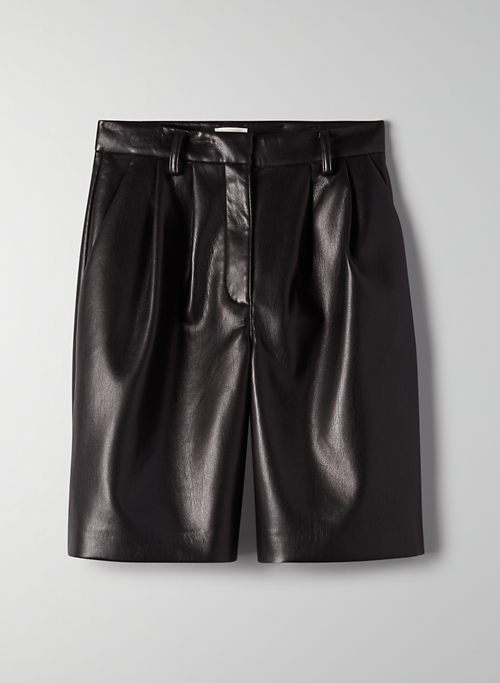 LIMERICK SHORT - High-waisted vegan leather shorts