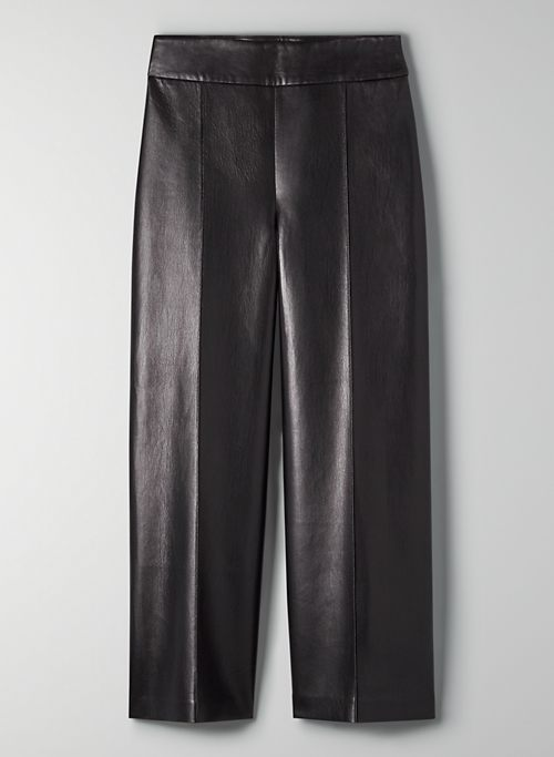 GONDOLA PANT - High-waisted, vegan leather culottes