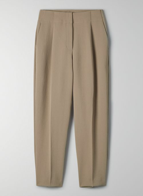 NANES PANT - High-rise pleated pant