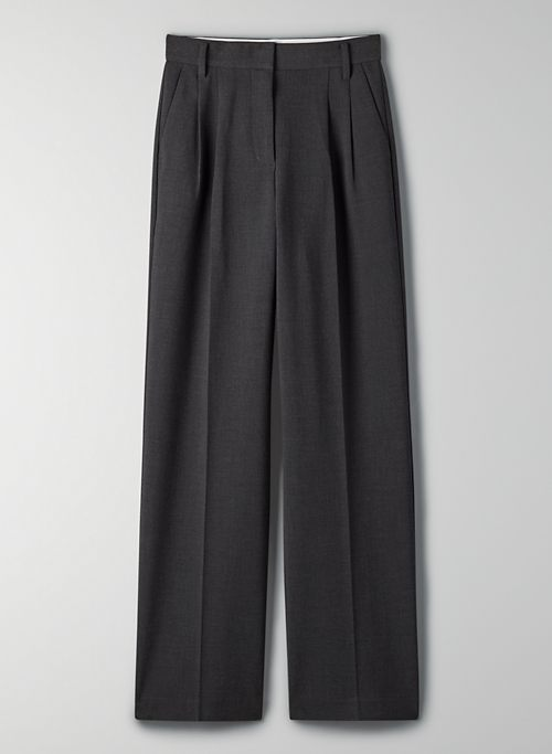 EFFORTLESS PANT - High-waisted, pleated wide-leg dress pants