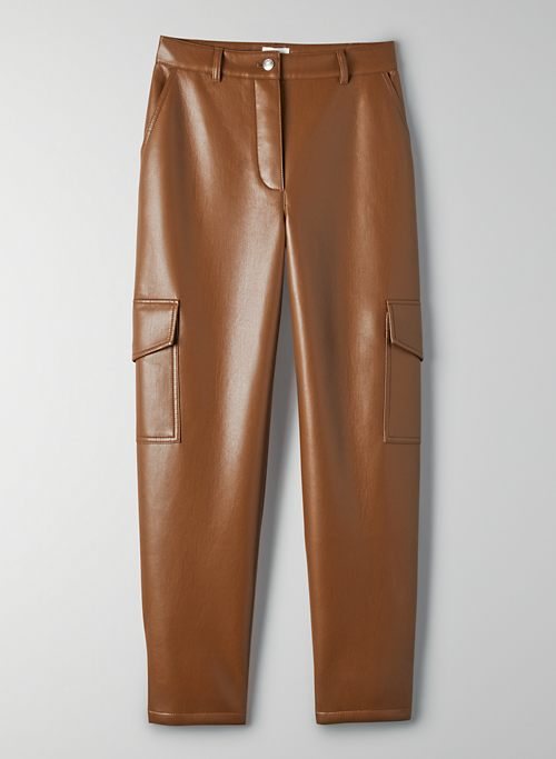 MODERN CARGO PANT - Faux leather cargo pants