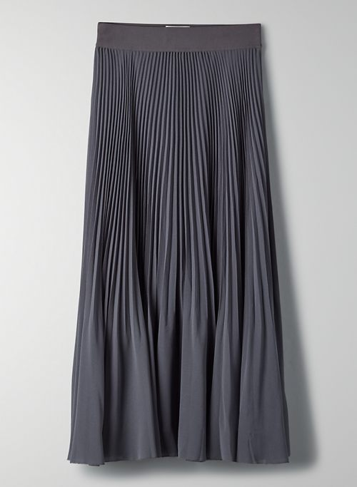 TWIRL SKIRT - Pleated chiffon midi skirt