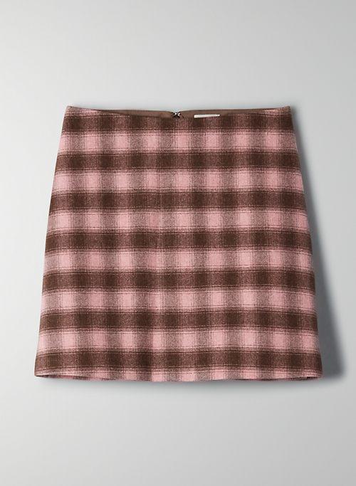 NEW CLASSIC MINI SKIRT - Checkered wool mini skirt