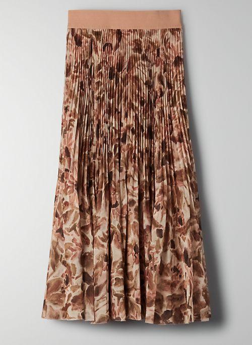 TWIRL SKIRT - Chiffon, pleated midi skirt