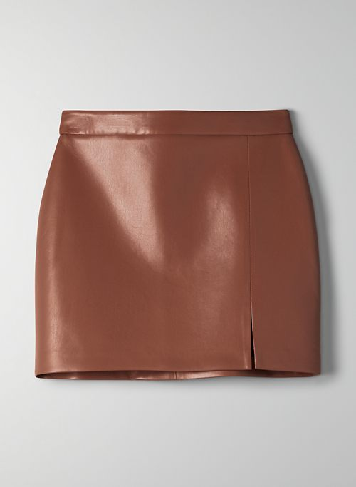 TEMPEST SKIRT - Vegan leather mini skirt