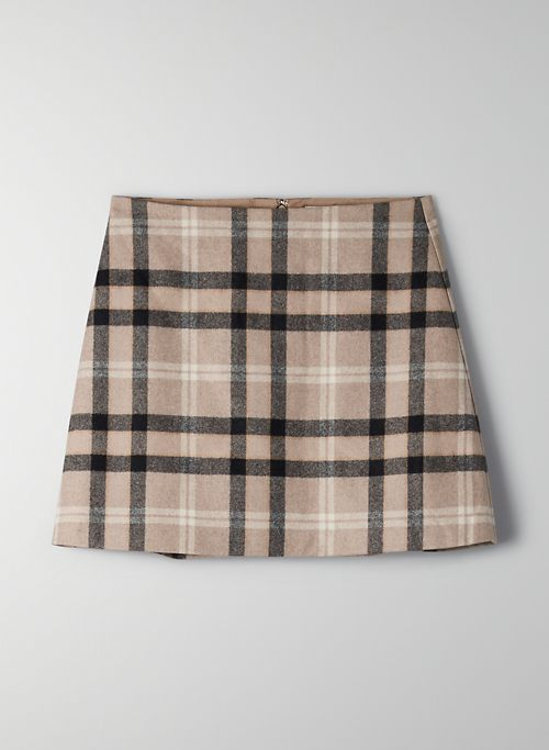 CLASSIC MINI SKIRT - Wool cashmere mini skirt