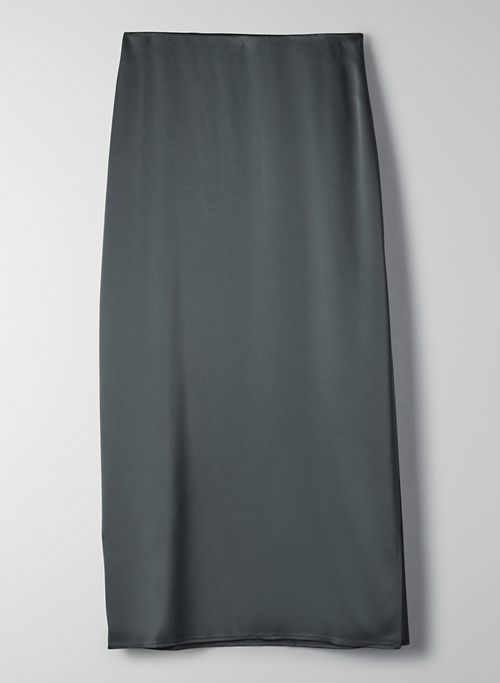 BESALU SKIRT - Satin maxi skirt