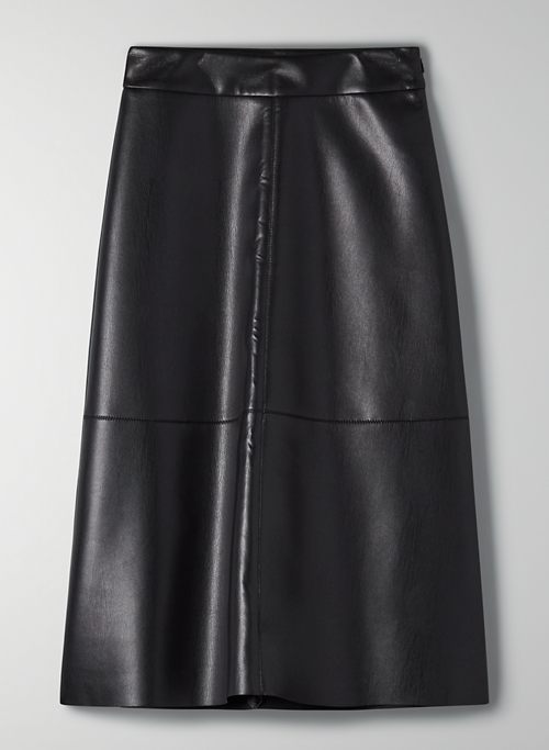 ORTA SKIRT - A-line vegan leather skirt