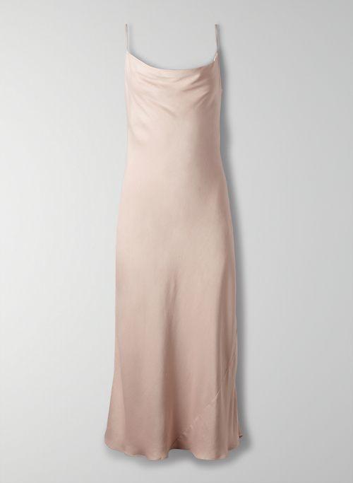 CANTO DRESS - Satin cowl-neck slip dress