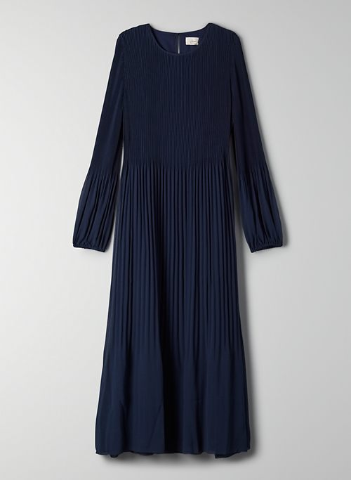 ELBA DRESS - Pleated chiffon maxi dress