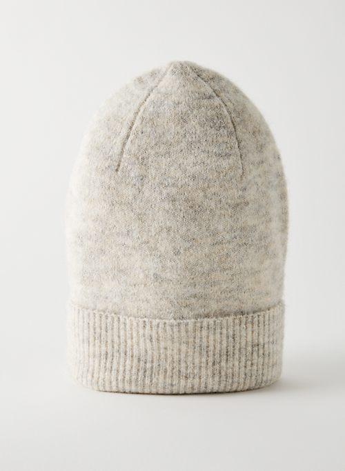 FLOPPY CUFFED BEANIE - Ribbed knit beanie