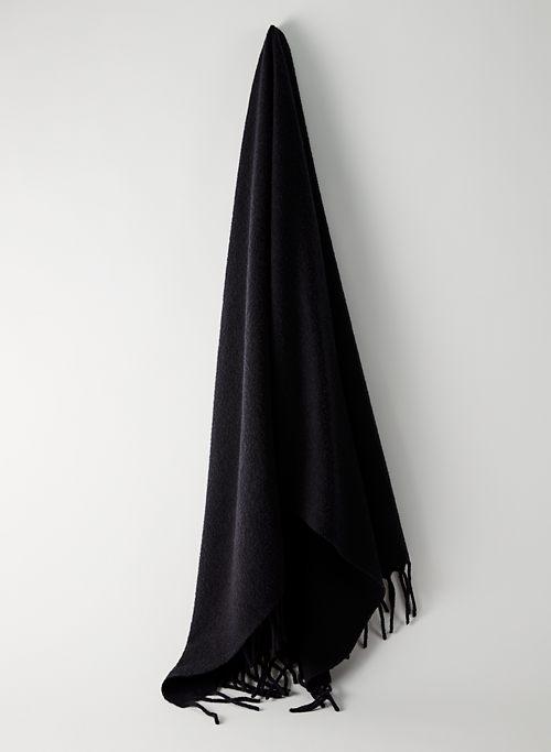 WOOL FRINGE SCARF - Wool fringe scarf