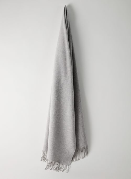 ASPEN CASHMERE SCARF - Cashmere rectangle fringe scarf