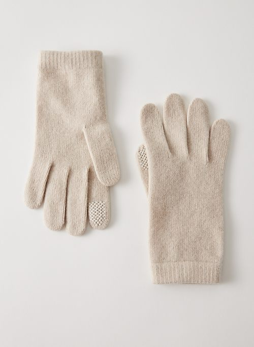 CASHMERE TECH GLOVES - Tech-friendly cashmere gloves