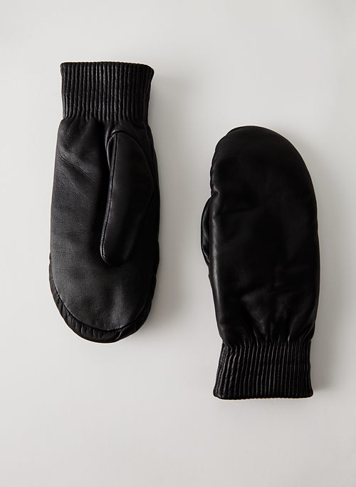 LEATHER MITTENS - Leather mittens