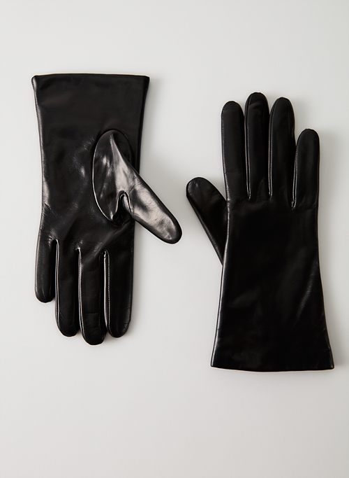 LEATHER GLOVES - Leather cashmere-lined gloves