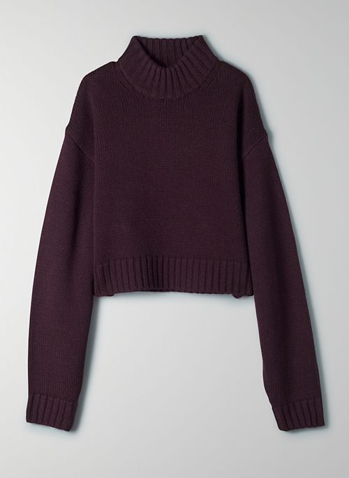 HEINEN SWEATER - Cropped mock-neck sweater