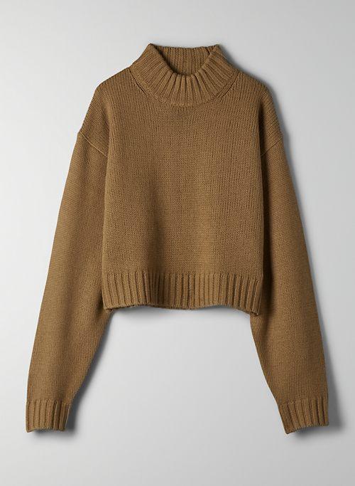 HARPER SWEATER - Cropped mock-neck sweater