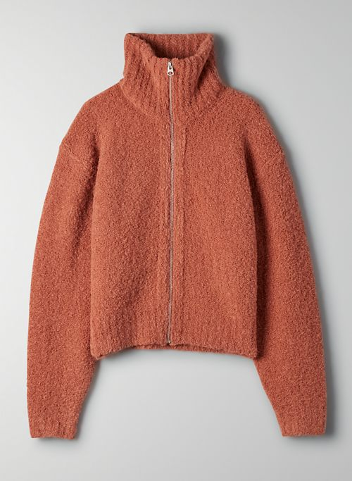 MARILYN SWEATER - Cropped zip-up sweater