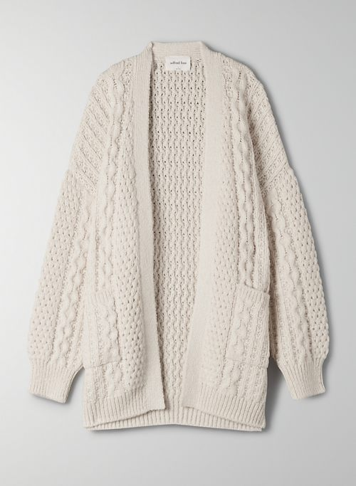 CABLE KNIT CARDIGAN | Aritzia