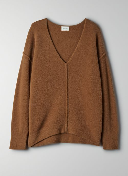 RELAXED V-NECK SWEATER | Aritzia