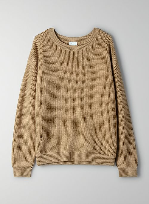 ISABELLI SWEATER - Waffle-knit, crewneck sweater