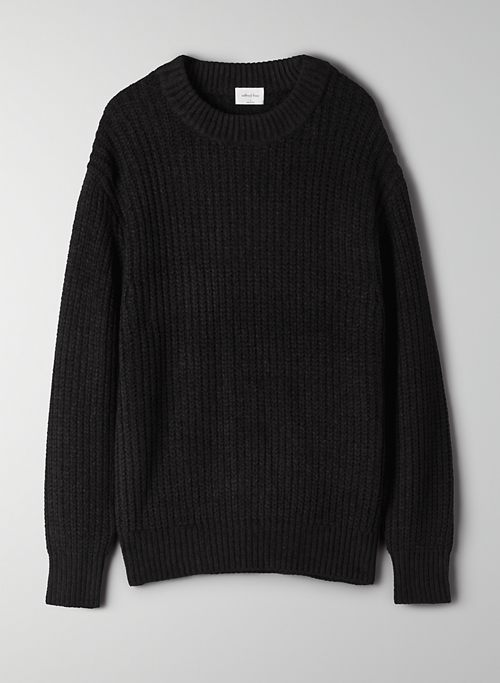 ESSENTIAL CHENILLE SWEATER - Knit crew-neck sweater