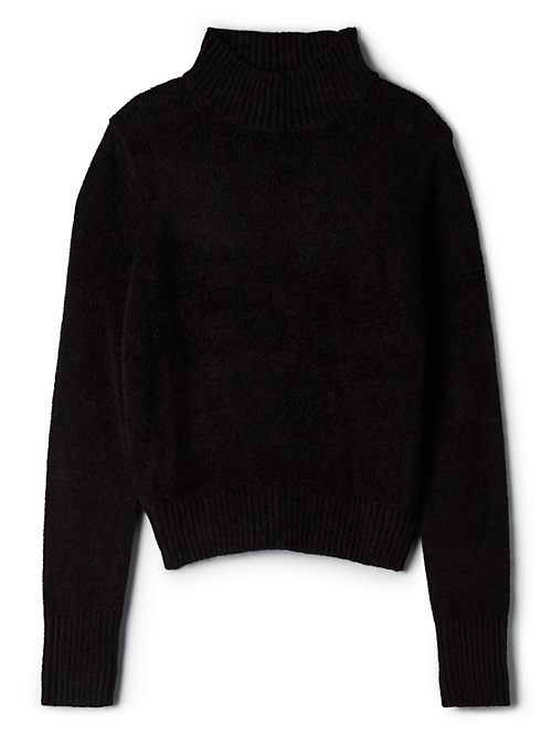 ESSENTIAL CHENILLE TURTLENECK - Knit mock-neck sweater