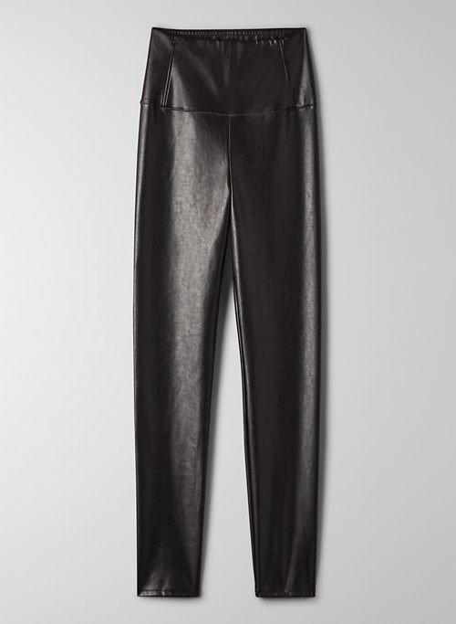 DARIA ANKLE PANT - Cropped, vegan-leather legging
