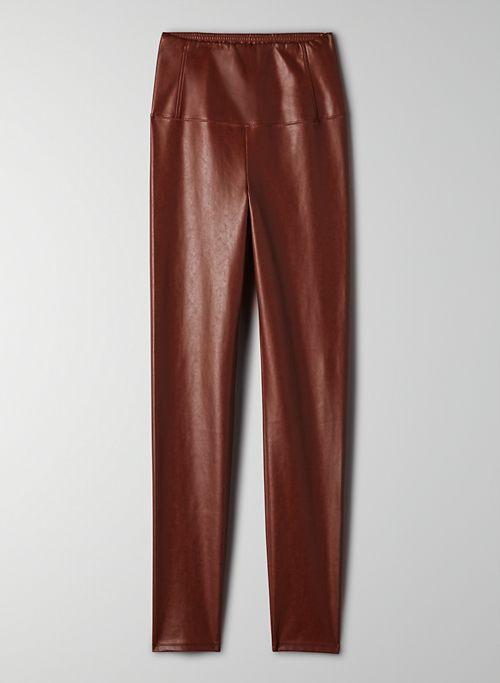 DARIA ANKLE PANT - Cropped, vegan-leather legging