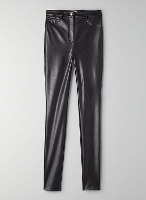CHARM PANT - High-waisted Vegan Leather leggings