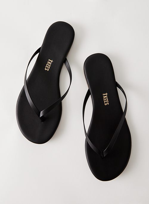 TKEES FLIP FLOP - Leather thong sandals