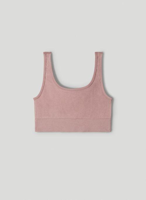 LUSH SEAMLESS BRA TOP - Seamless scoop-neck bra top