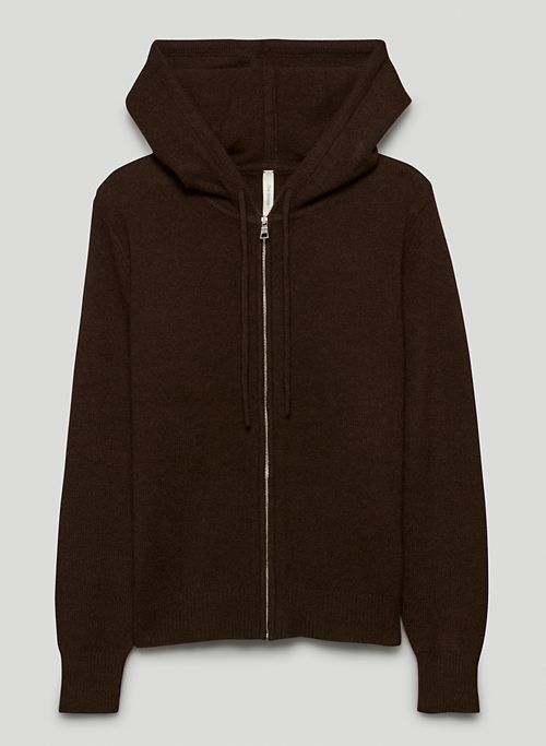 LUXE CASHMERE ZIP-UP - Cashmere zip-up hoodie
