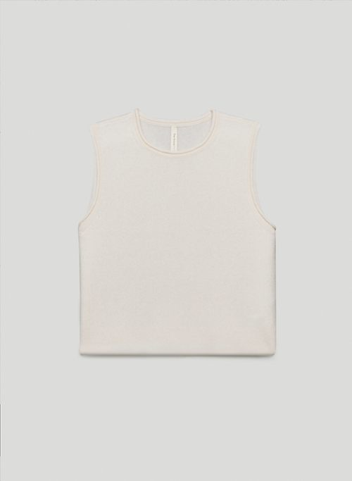 ELLIPSIS CASHMERE TANK - Crew-neck cashmere tank