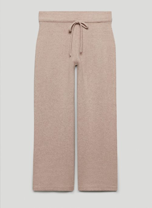 LUXE CASHMERE CROPPED PANT - Cashmere lounge pants