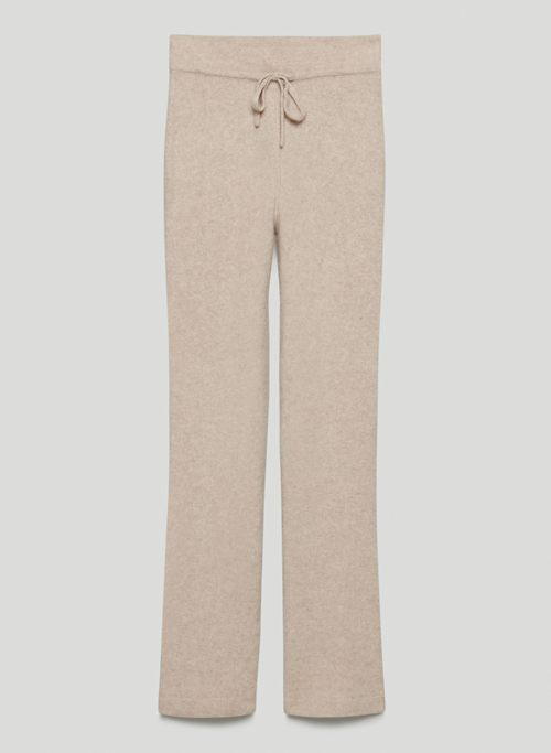LUXE CASHMERE PANT - High-waisted, wide-leg cashmere pants